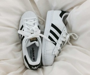 adidas, supercolour, and bed image
