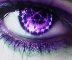 dark, eye, and purple image