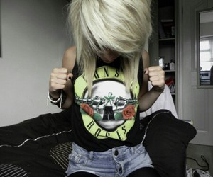 girl, Guns N Roses, and blonde image