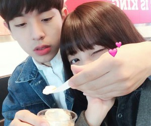 couple, ulzzang, and girl image
