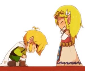 Legend of Zelda, link, and link and zelda image