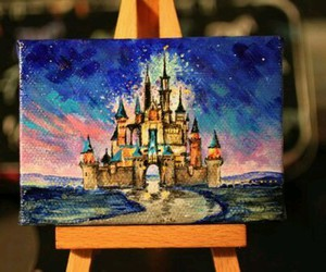 disney, art, and painting image