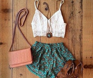 outfit, crop top, and girl style image