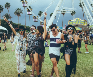 coachella, friends, and fun image