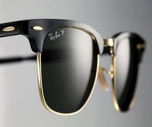 sunglasses, black, and ray ban image