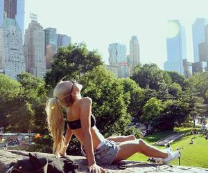 girl, summer, and city image