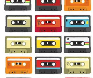 cassettes, colors, and drawing image