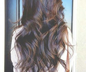 beauty, long hair, and curls image