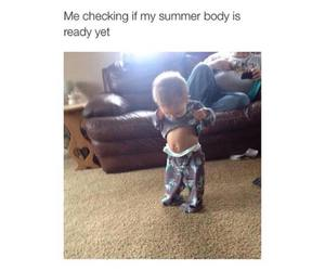 body, funny, and summer image