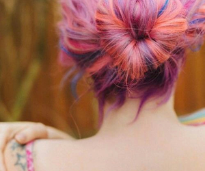 hair, heart, and pink image