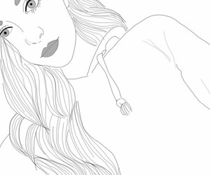 art, grunge, and outline image