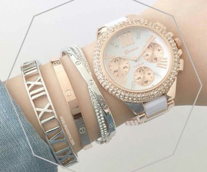 watch, girls, and gold image