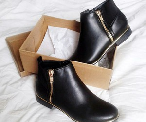 boots, black, and moda image