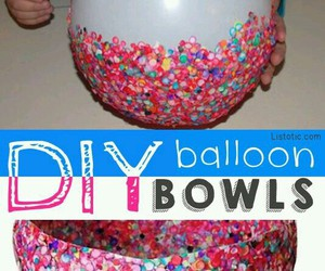 balloons, bowl, and colourful image