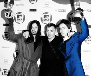 jared leto, 30 seconds to mars, and ema image
