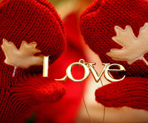 love, red, and gloves image