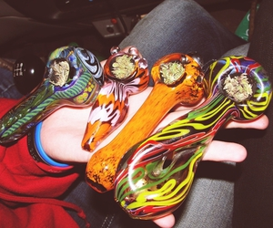 weed, pipe, and piece image