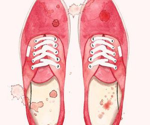 pink, art, and shoes image