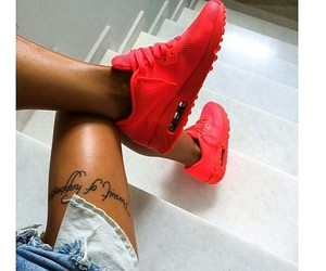 tattoo, nike, and red image