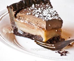 chocolate, cake, and caramel image
