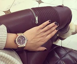 fashion, watch, and leather image