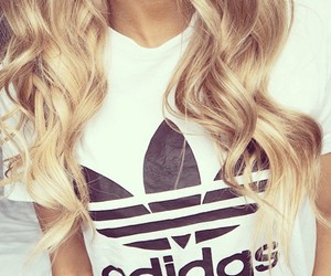 adidas, hair, and blonde image