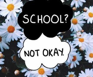 school, flowers, and okay image