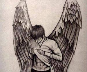 angel, drawing, and patch image