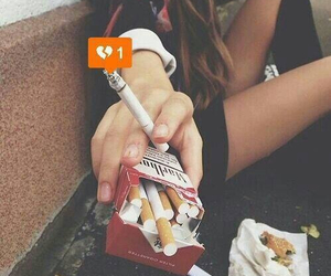 cigarette, smoke, and broken image