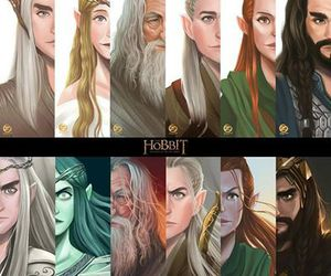 the hobbit, galadriel, and thranduil image
