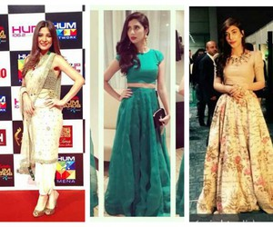 designer dresses, pakistani celebrities, and pakistani actresses image