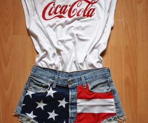 coca cola, shorts, and usa image
