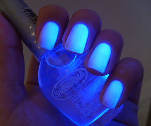 black light, nail polish, and nails image