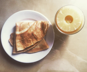 crepes, food, and pineapple image