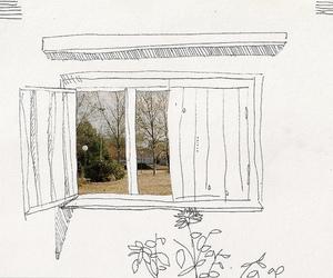 nature, window, and art image