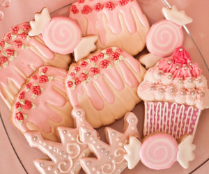 pink, Cookies, and sweet image