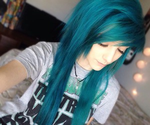 beautiful, youtuber, and blue hair image