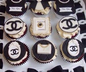 cupcake, chanel, and black image