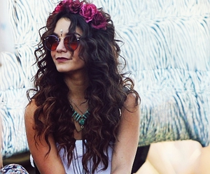 vanessa hudgens, coachella, and hippie image