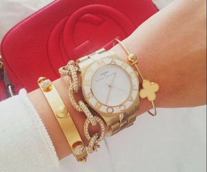 gold, watch, and jewelry image