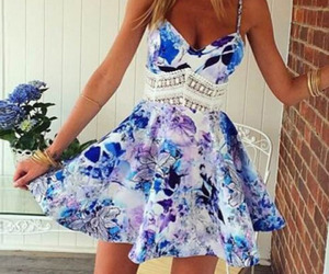 dress, summer, and blue image