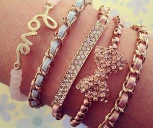 bracelet, bow, and girly image