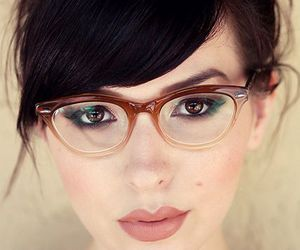 beauty, hair, and glasses image