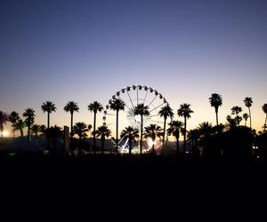coachella, music, and sunset image
