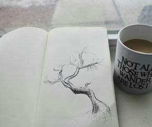 drawing, art, and tree image