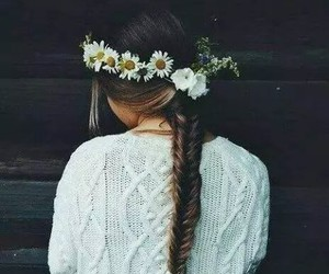 spring, flowerscrown, and braid image