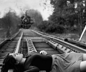 attention, girl, and train image