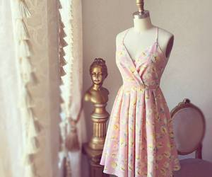 dress, floral, and spring image