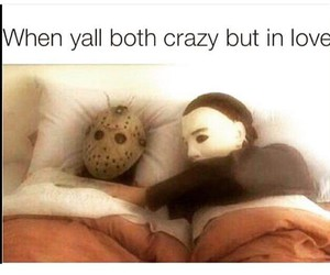 bed, crazy, and love image