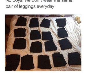 leggings, funny, and black image